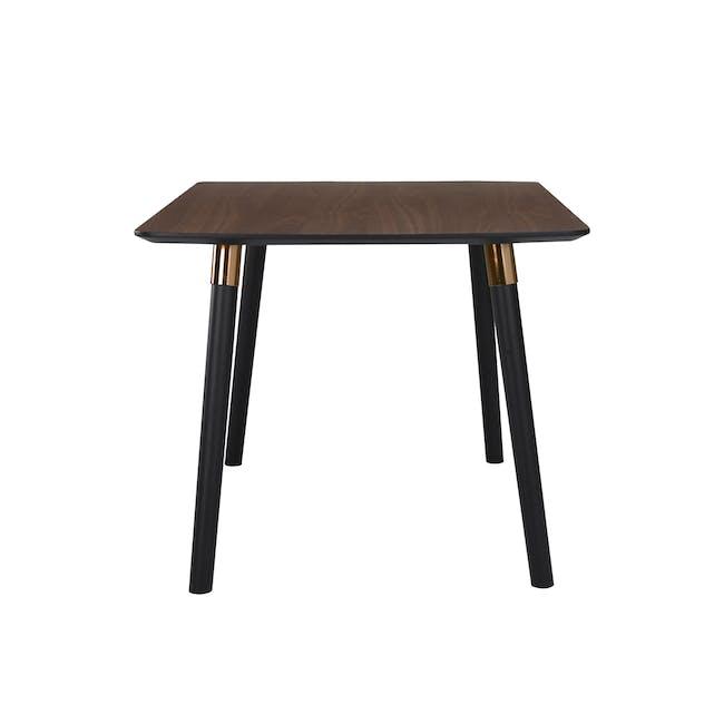 Jazz Dining Table 1.5m - Walnut, Black - 4