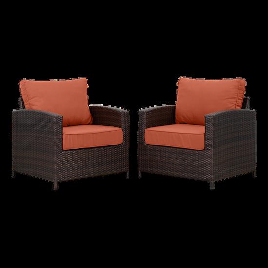 Outdoor Sets By Hipvan Arlana Outdoor Armchair Burnt Orange Set