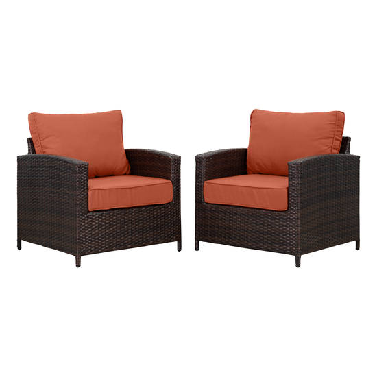 MLM Outdoor - Arlana Outdoor Armchair - Burnt Orange (Set of 2)