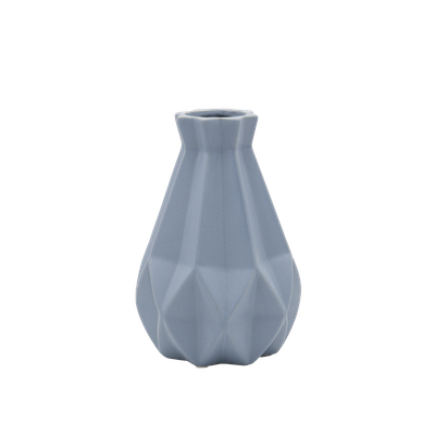 Theo Ceramic Vase - Blue Grey - Image 1