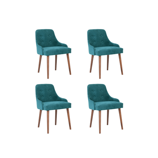 HipVan Bundles - 4 Caitlin Chairs in Cocoa, Nile Green