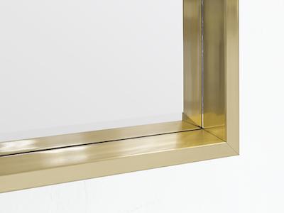 (As-is) Julia Half-Length Mirror 60 x 80 cm - Brass - 1 - Image 2