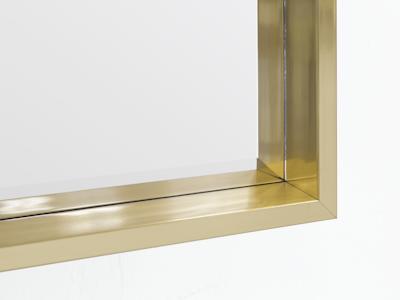 Julia Half-Length Mirror 60 x 80 cm - Brass - Image 2