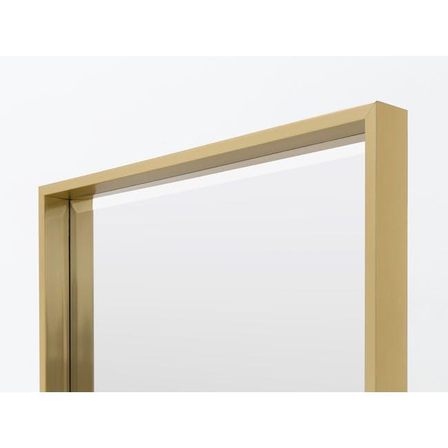 Julia Half-Length Mirror 60 x 80 cm - Brass - 3