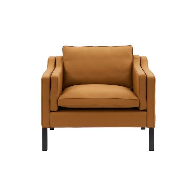 Borge Mogensen 2213 Armchair Replica - Tan (Genuine Cowhide) - 0