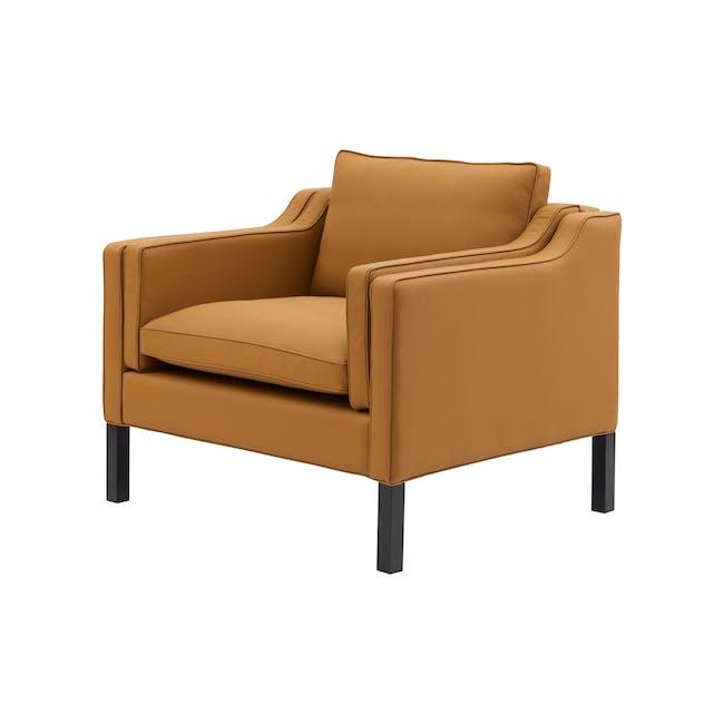 Borge Mogensen 2213 Armchair Replica - Tan (Genuine Cowhide) - 1