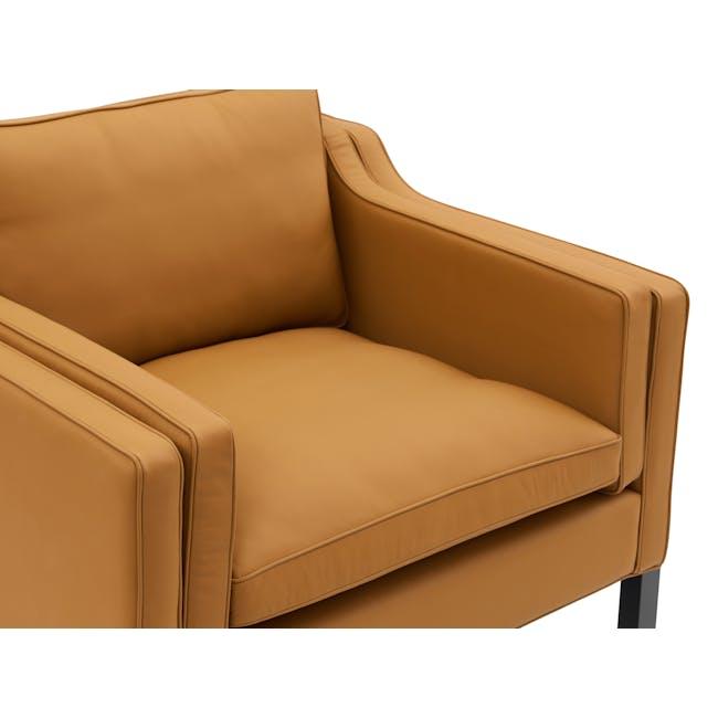 Borge Mogensen 2213 Armchair Replica - Tan (Genuine Cowhide) - 4