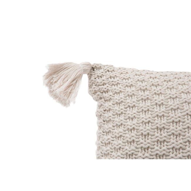 Laura Knitted Cushion Cover - Cream - 2