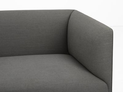 (Display Piece) Navara 3 Seater Sofa - Grey - Image 2