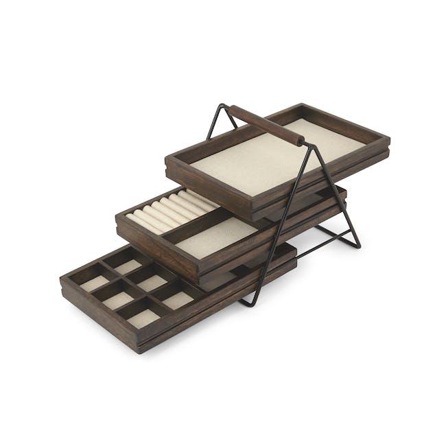 Terrace Jewelry Tray - Black, Walnut - 1
