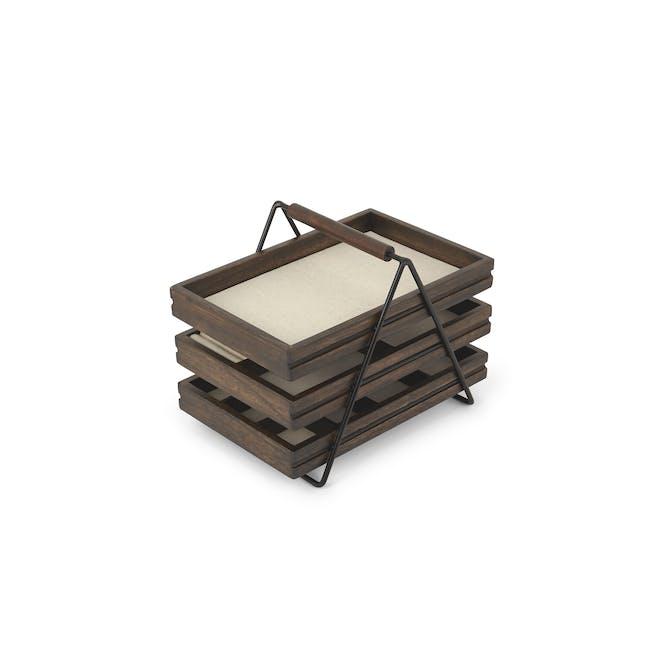 Terrace Jewelry Tray - Black, Walnut - 0