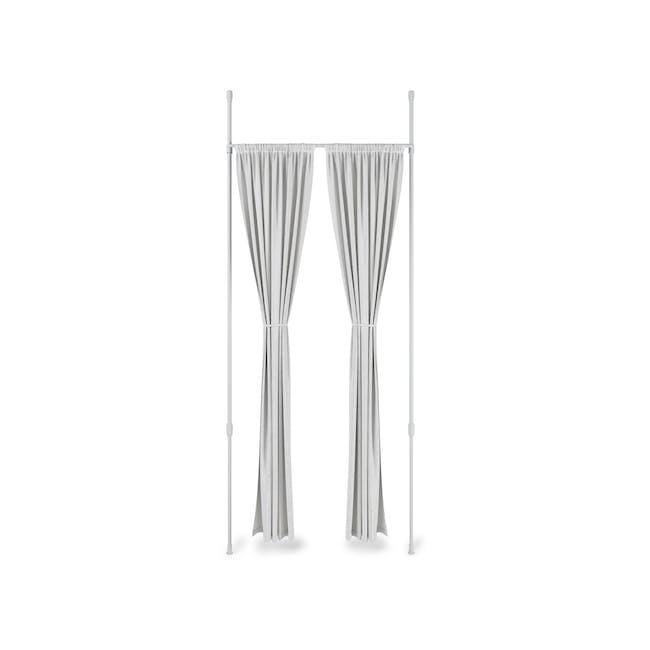 Anywhere Multipurpose Curtain Rod - White - 0