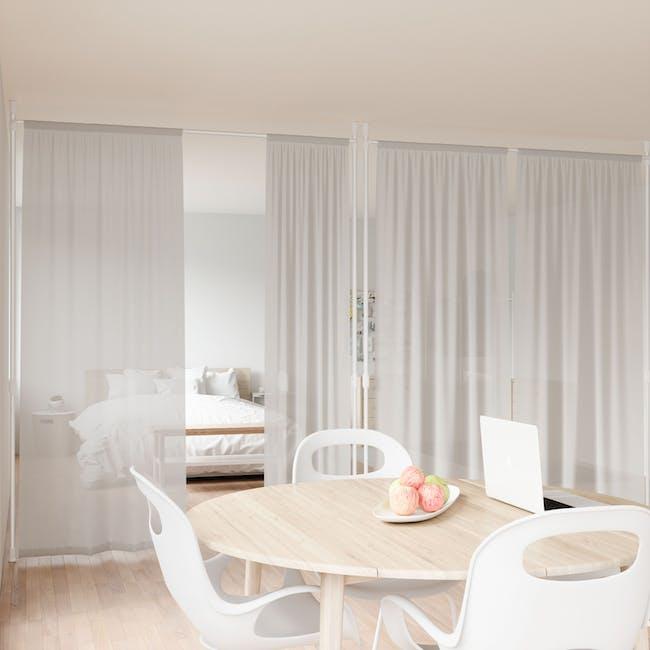 Anywhere Multipurpose Curtain Rod - White - 10