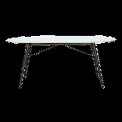 Fleming Table 1.8m - White, Black - Image 1