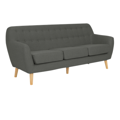 (As-is) Emma 3 Seater Sofa - Charcoal - 6 - Image 2