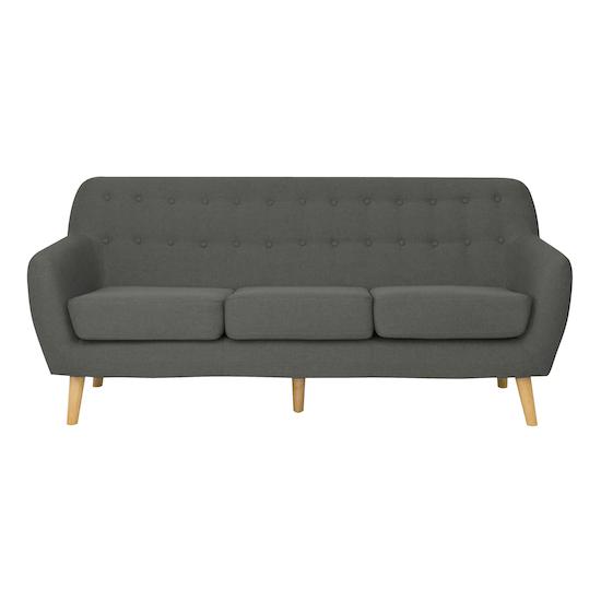 Emma 3 Seater Sofa Charcoal