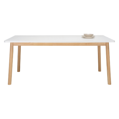 Kendall Dining Table 1.8m - Natural, White Lacquered - Image 2