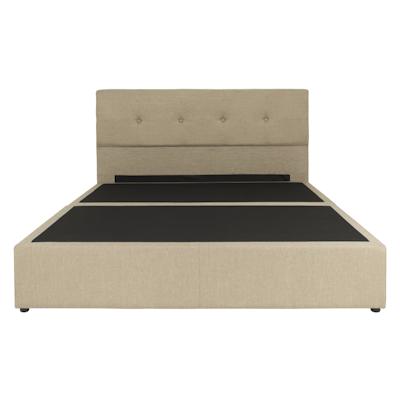Maggie Headboard Bed w/ LEVITATE Mattress - Sand (Fabric) - Image 2
