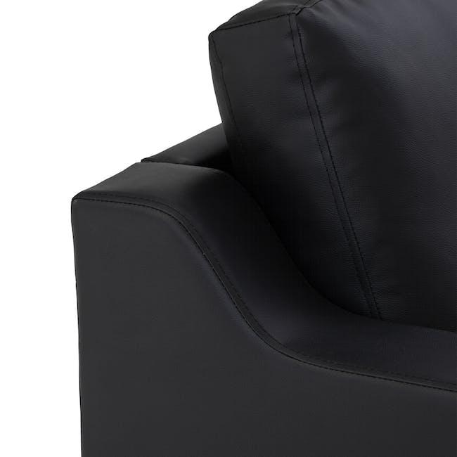 Baleno 3 Seater Sofa - Espresso (Faux Leather) - 5