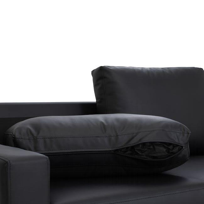 Baleno 3 Seater Sofa - Espresso (Faux Leather) - 6