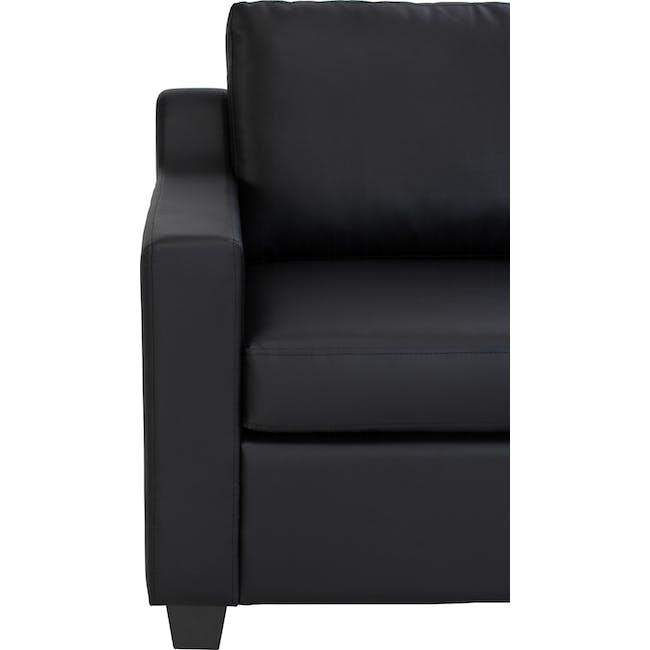 Baleno 3 Seater Sofa - Espresso (Faux Leather) - 4