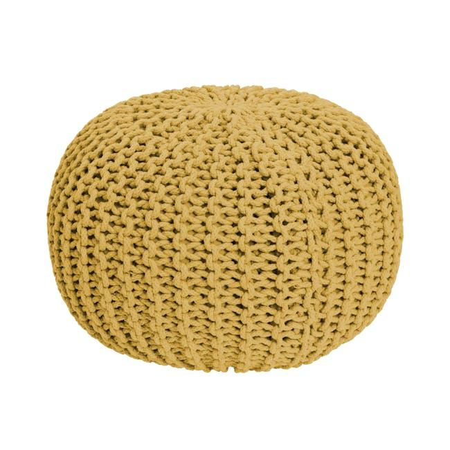 Moana Knitted Pouf - Yellow - 0