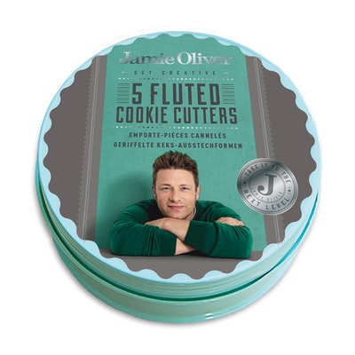 Jamie Oliver 5 pcs. Fluted Round Cookie Cutters Set - Image 2
