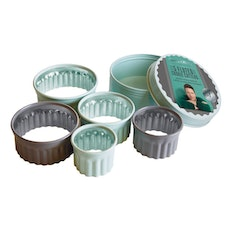 Jamie Oliver 5 pcs. Fluted Round Cookie Cutters Set