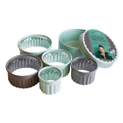 Jamie Oliver 5 pcs. Fluted Round Cookie Cutters Set - Image 1