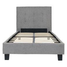 Oxford Headboard Bed - Light Grey