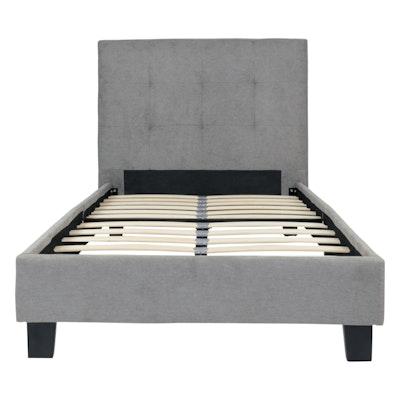 Onyx Single Bed - Light Grey