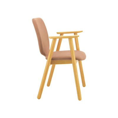 Missie Dining Arm Chair - Oak, Burnt Umber