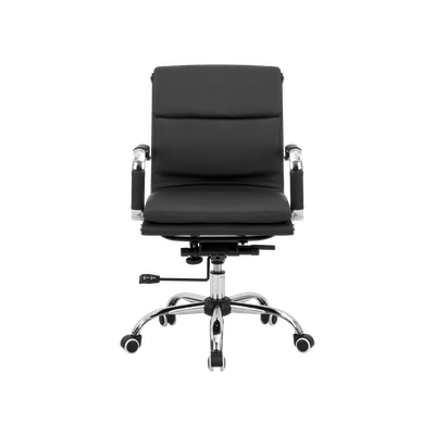 (As-is) Eames Soft Pad Mid Back Office Chair - Black (PU) - 1 - Image 1