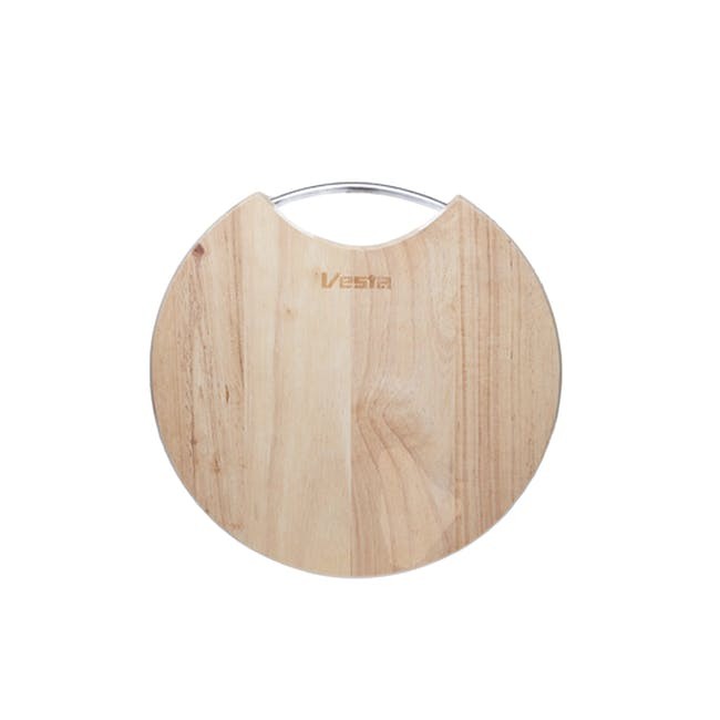 WoodenCutting & Serving Board- Round - 1