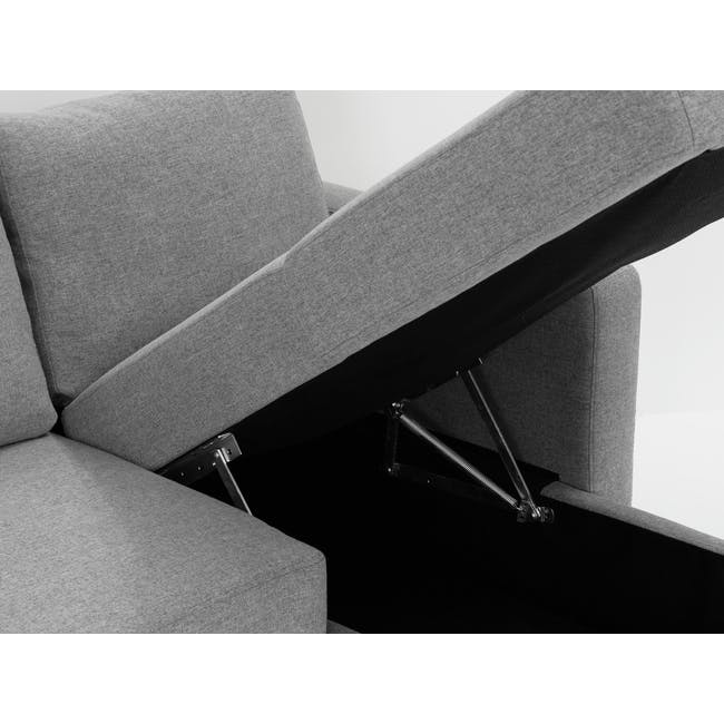 Mia L-Shaped Storage Sofa Bed - Dove Grey - 8