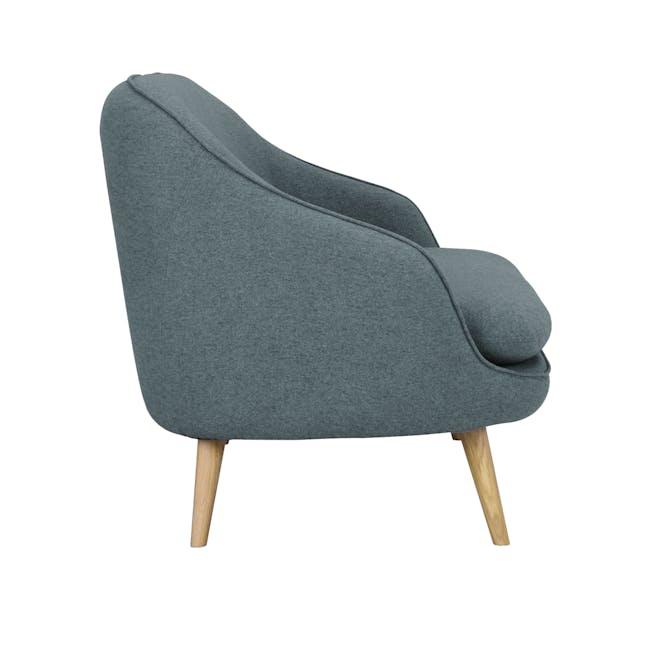 Quinn 2 Seater Sofa with Quinn Armchair - Marble Blue - 5
