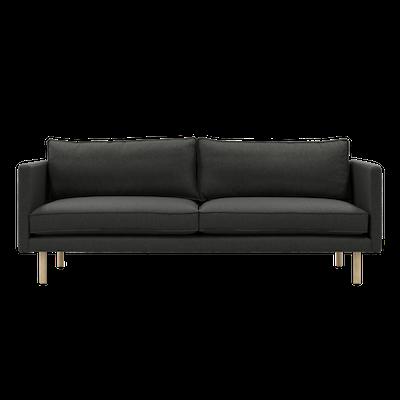 Rexton 3 Seater Sofa - Battleship Grey, Down Feathers - Image 1