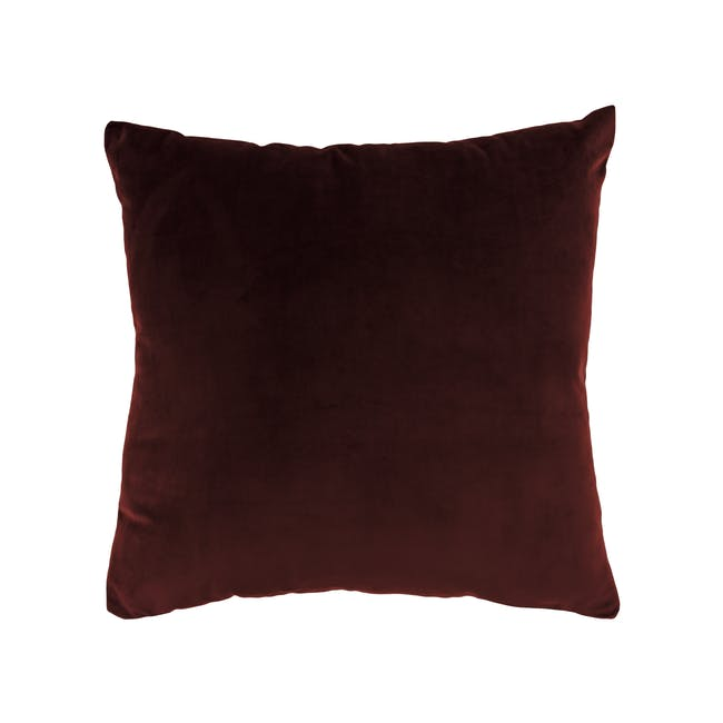 Alyssa Velvet Cushion Cover - Burgundy - 0
