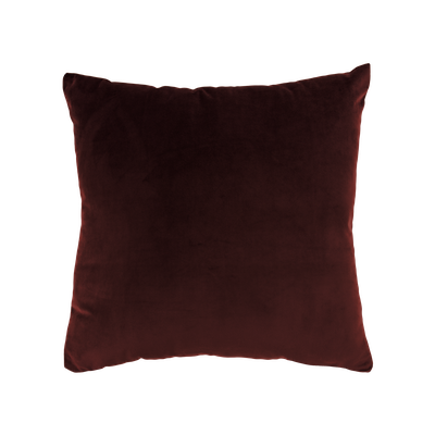 Alyssa Velvet Cushion - Burgundy - Image 1