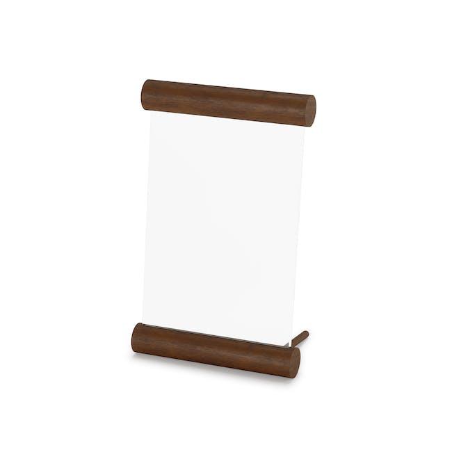 Scroll Photo Display 4 x 6 - Walnut - 3
