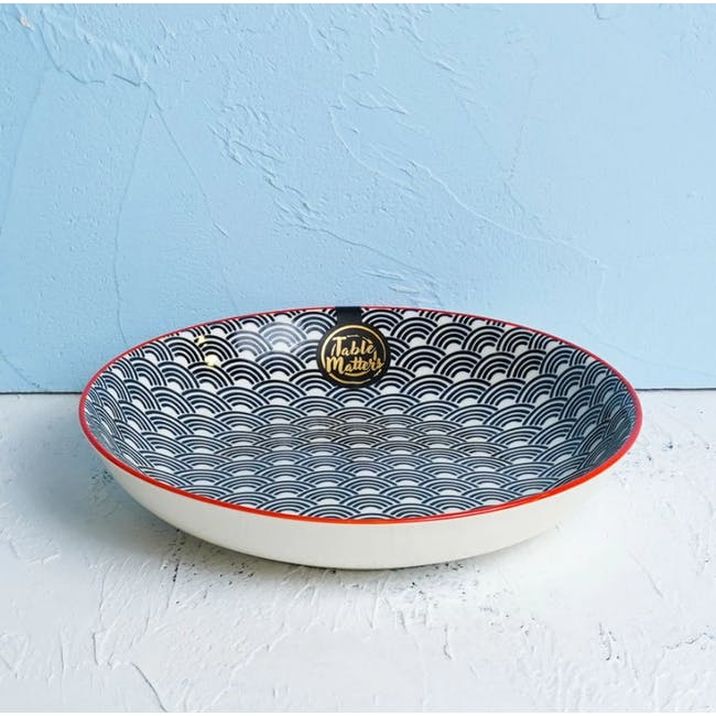 Table Matters Blue Wave Coupe Plate - 1