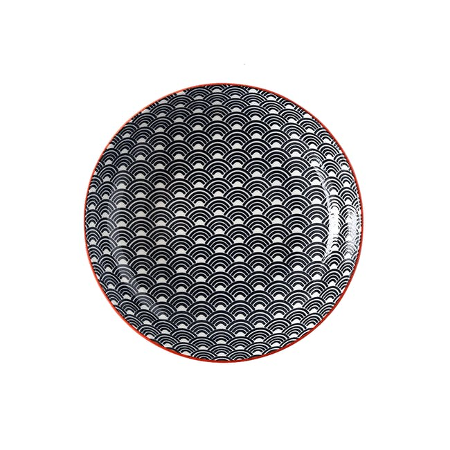 Table Matters Blue Wave Coupe Plate - 0
