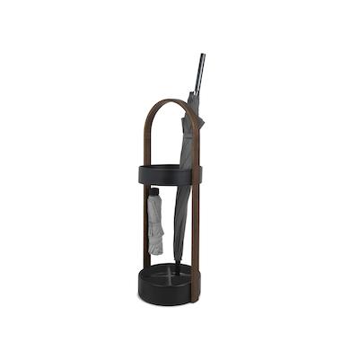 (As-is) Hub Umbrella Stand - Black, Walnut - 1 - Image 1