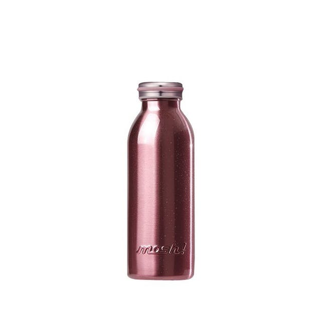 MOSH! Double-walled Stainless Steel Bottle 450ml -  Pearl Pink - 0