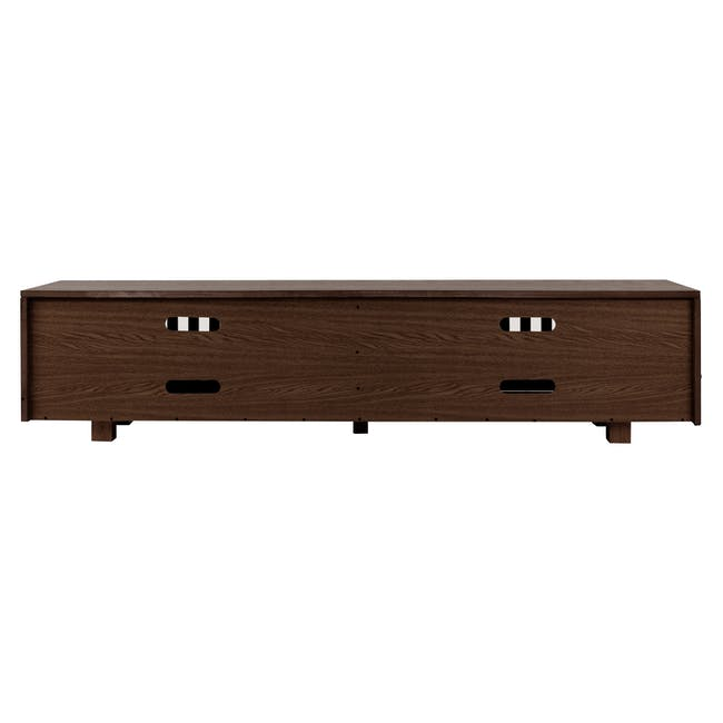 Keita TV Console 1.8m in Walnut with Carsyn Oval Coffee Table in Cocoa - 7
