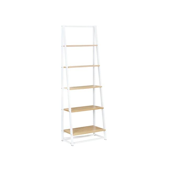 Luca Tall Shelf- White, Oak - 0