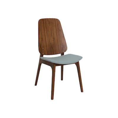 Maddie Dining Chair - Walnut, Jade