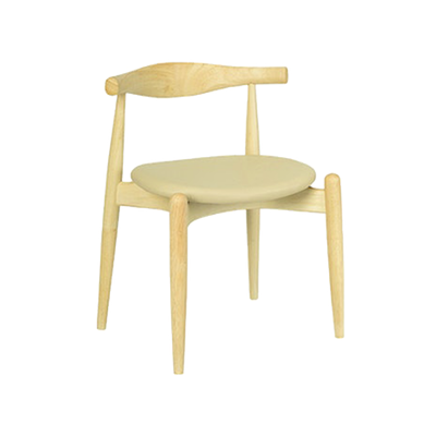 Bouvier Dining Chair - Oak, Cream - Image 1