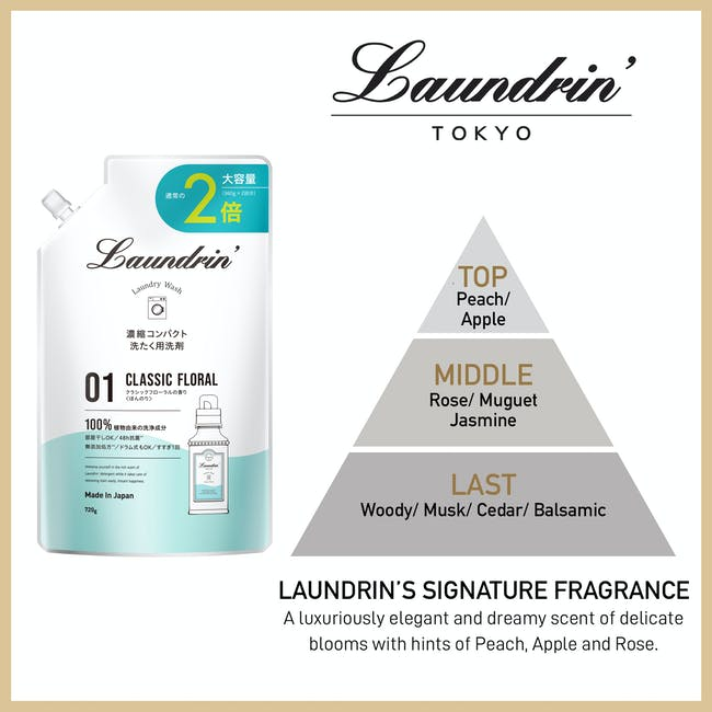 Laundrin Laundry Detergent - Classic Floral - 3