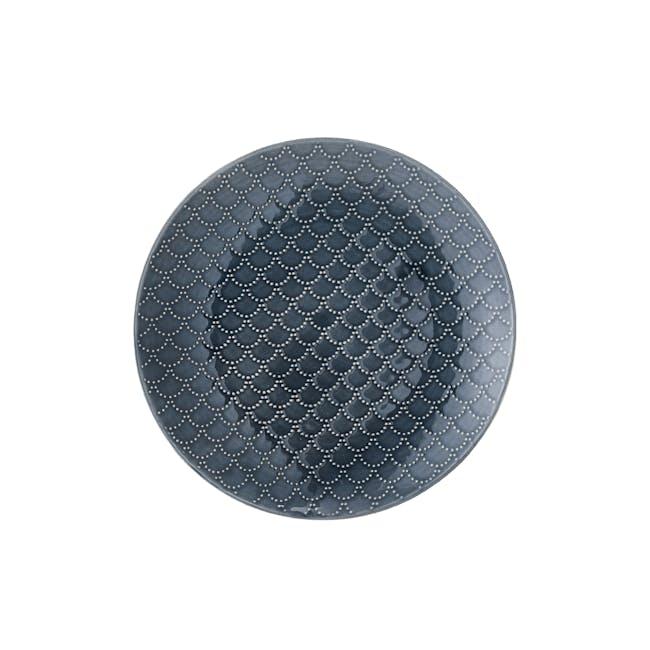 Nari Small Plate - Patterned Blue - 0